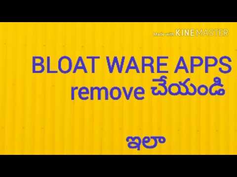 Remove BLOAT WARE APPS