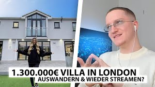 Justin reagiert auf 1,3 Mio € Villa in London! - Auswandern? | Reaktion