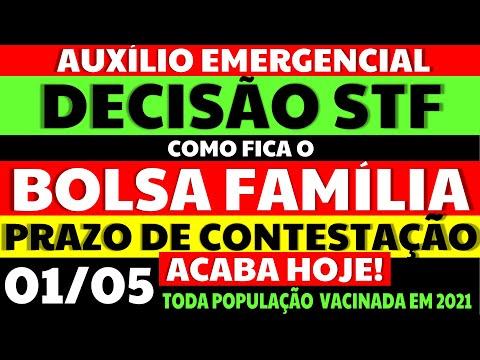 01/05 AUXÍLIO EMERGENCIAL DECISÃO STF COMO FICA O BOLSA FAMÍLIA PRAZO DE CONTESTAÇÃO ACABA HOJE