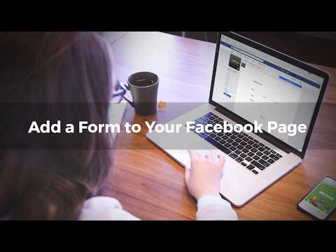Add A Form To Your Facebook Page