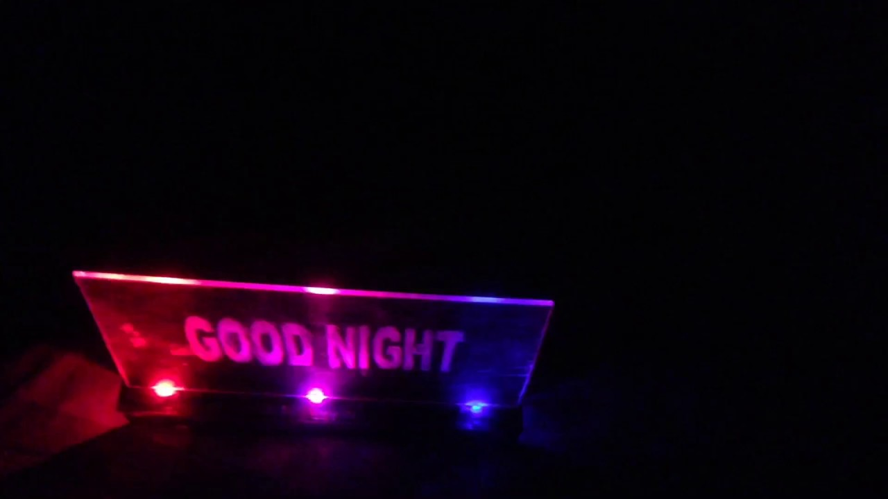 how to make an acrylic rgb led sign at home