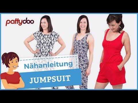Jumpsuit/ Overall/ Playsuit aus Jersey nähen - mit Passe, Schlitz ...