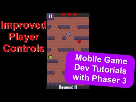 'Endless Cave' Ep. 10: Player Controls | Phaser 3 Game Dev Tutorial thumbnail