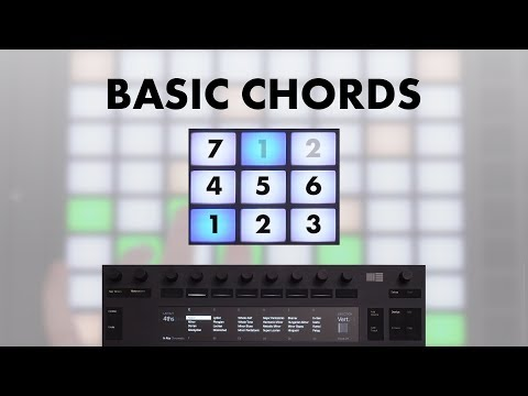 Ableton Push 2 BASIC CHORDS