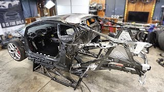 We Replaced The Burnt Huracan Frame!!
