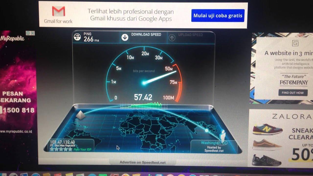 MyRepublic Indonesia Speedtest to Washington by MyRepublic Indonesia