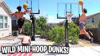 THE BEST MINI-HOOP DUNKING DUO ON YOUTUBE!