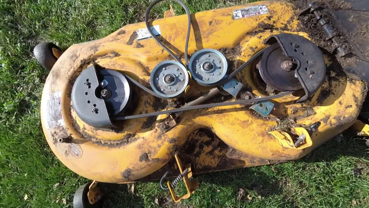 Simple Cub Cadet belt replacement and deck install  YouTube