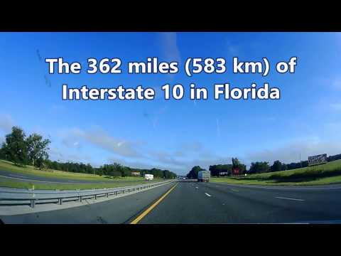 Welcome to Florida -  Interstates 10 West