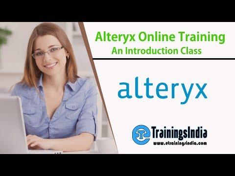 Alteryx Online Training | Alteryx Introduction | Alteryx training
