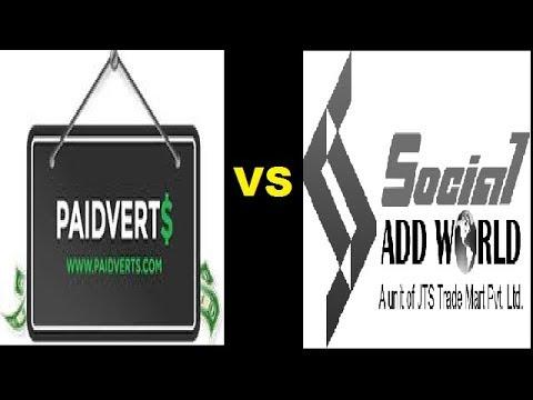 PAIDVERTS VS SOCIAL ADD WORLD REVIEW WITH GOOD NEWS HINDI BY AKTUBE