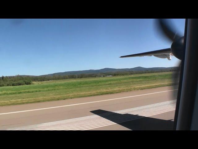 Gorgeous Dash 8 Q400 HD Summer Landing In Prince George British Columbia!!!