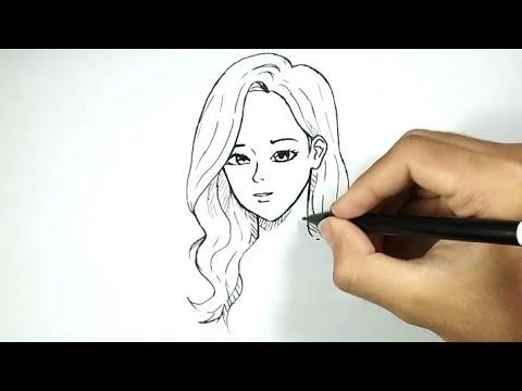 Cantik Cara Menggambar Cewek Cantik Dengan Mudah Dan Cepat Youtube