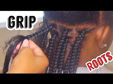 HOW TO GRIP BOX BRAIDS |SLOWED DOWN AND CLOSE UP ON THE ROOT
