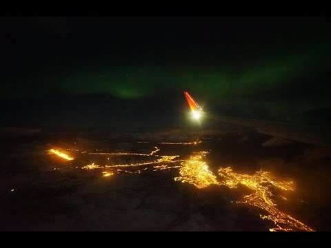 The Northern Lights Shot Through an Airplane Window with a Sony a7S II