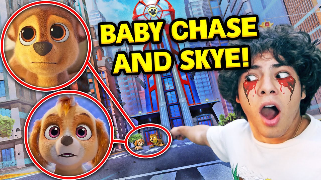 I FOUND BABY CHASE AND SKYE IN THE PAW PATROL SECRET TOWER!! (BABY PAW PATROL ON CAMERA)