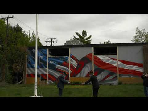 Retiring The Flag At American Legion Post 139