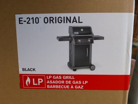 weber gasgrill spirit e 210 original youtube. Black Bedroom Furniture Sets. Home Design Ideas