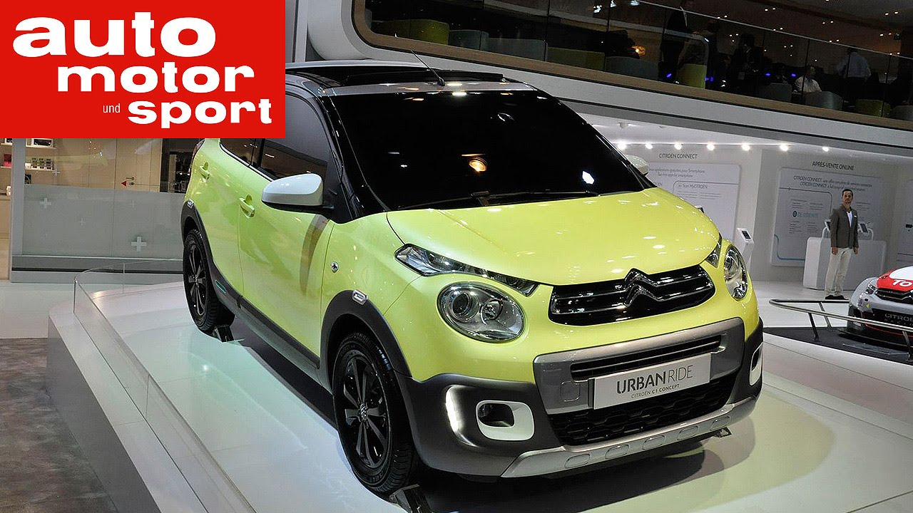 Citroen C1 Urban Ride Concept auf dem Autosalon Paris