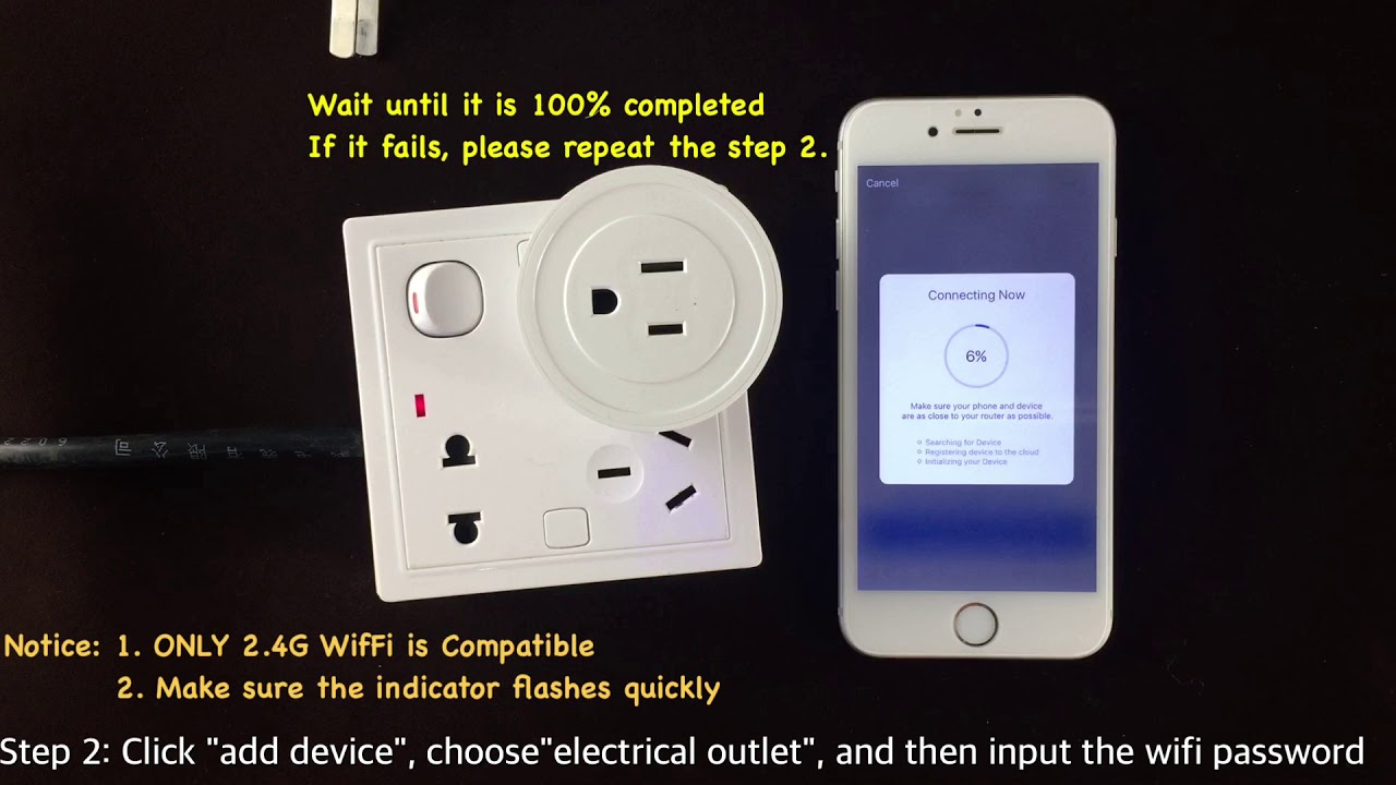 Smart Plug - Wifi Connection (2 4G ONLY)