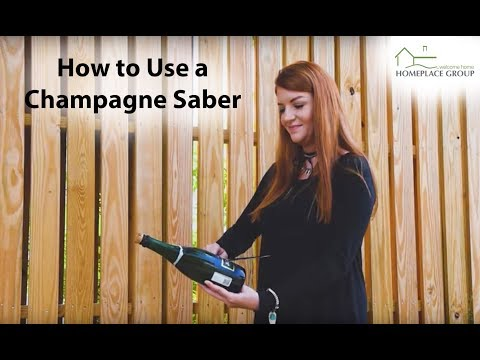 How to Use A Champagne Sabre