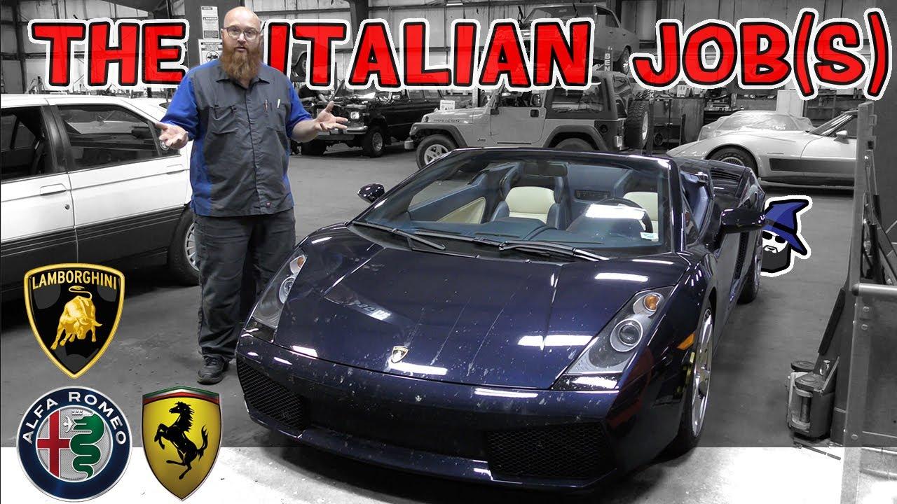Italian Jobs: Ferrari 456, Lambo Gallardo, Alfa 164L & CarTrek Ferrari 308! Busy in CAR WIZARD shop!