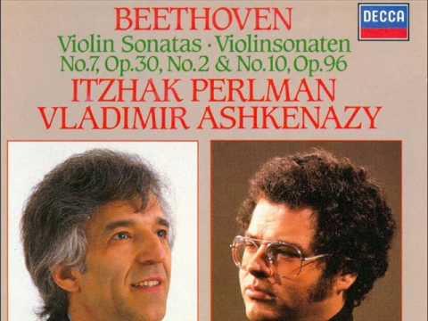 BEETHOVEN   Violin Sonata  Adagio cantabile   Perlman Ashkenazy