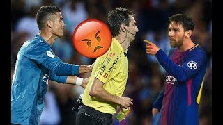 Ronaldo and Messi Vs The Referee ● Angry Moments