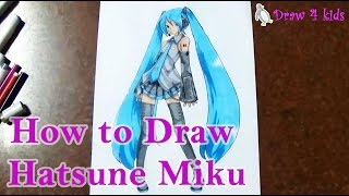 How to Draw Hatsune Miku | D4K