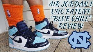 sale retailer d0c54 aa273 AIR JORDAN 1 UNC PATENT BLUE CHILL REVIEW  amp  ON FOOT!!! COP OR FLOP