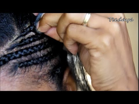 Side Mohawk Part 1 Cornrow Pattern Prep Youtube