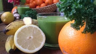 Ginger Orange Kale Smoothie ~ Refined Recipe