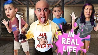 Mr Meat Horror Game In Real Life (FUNhouse Family)