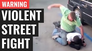 WARNING: Violent Street Fight (Gracie Breakdown)