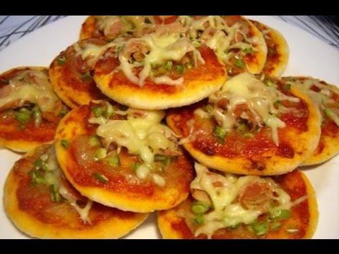 صورة  طريقة عمل البيتزا طريقة عمل بيتزا صغيرة رائعة ولديدة طريقة عمل البيتزا من يوتيوب
