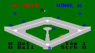 Major League Baseball - Intellivision (Mattel 1980)