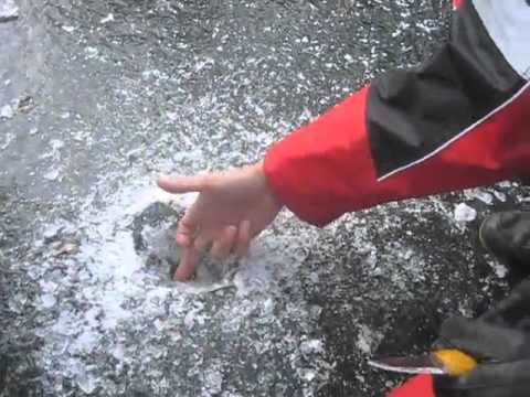 how to test if ice is thick enough for walking