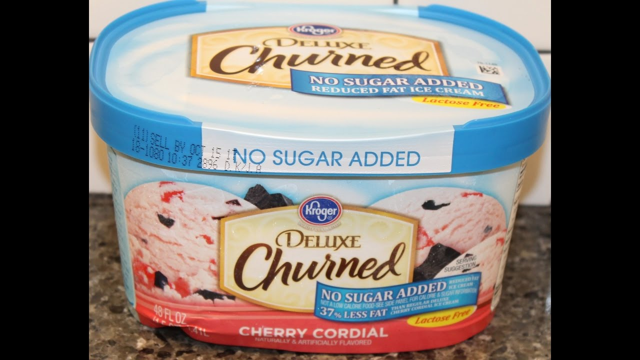 Kroger Deluxe Churned No Sugar Added Reduced Fat Cherry Cordial Ice