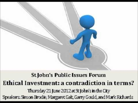 St John's Public Issues Forum on Ethical Investment