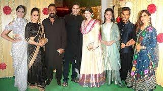 Ekta kapoor's grand diwali party 2017 - akshay kumar,sanjay dutt,alia bhatt,sonam,sonakshi