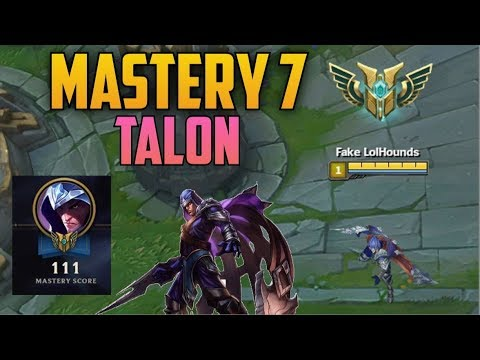 GOLD CHAMPION MASTERY 7 TALON- Ranked Journey 5 (League of Legends)