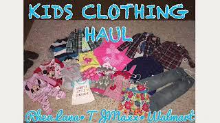 Kids Spring Clothing Haul 2018 | Rhea Lana•TJMaxx•Walmart