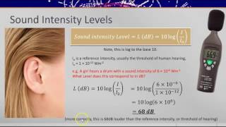 Decibels and Sound Intensity (Post-16 physics)