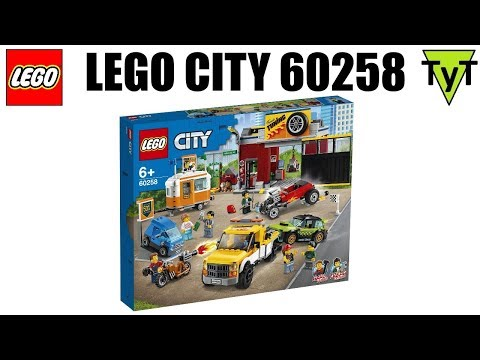 LEGO City 60258. Собираем набор Мастерская тюнинга
