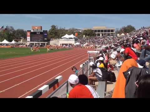 Malcolm White wins Texas Relays 100m