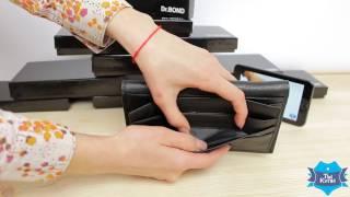 Качественный кожаный мужской кошелек Dr.Bond M68 black купить в Украине. Обзор