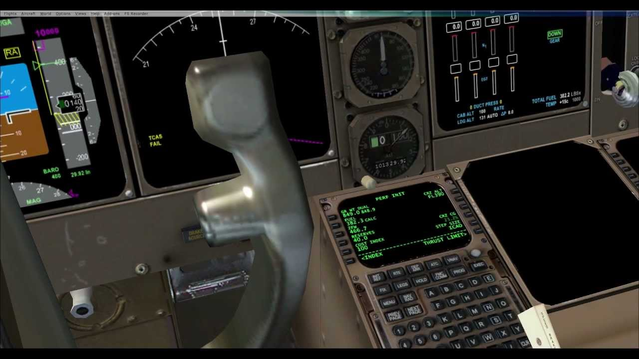 FSX PMDG 747-400 FMC Fuel & Weight Tutorial  How to manage your fuel  by  Mofasaro