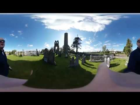 10th Century Irish Round Tower in 360