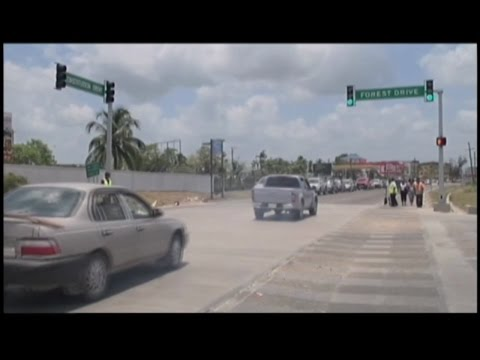 Belmopan gets new traffic lights under Road Safety Project