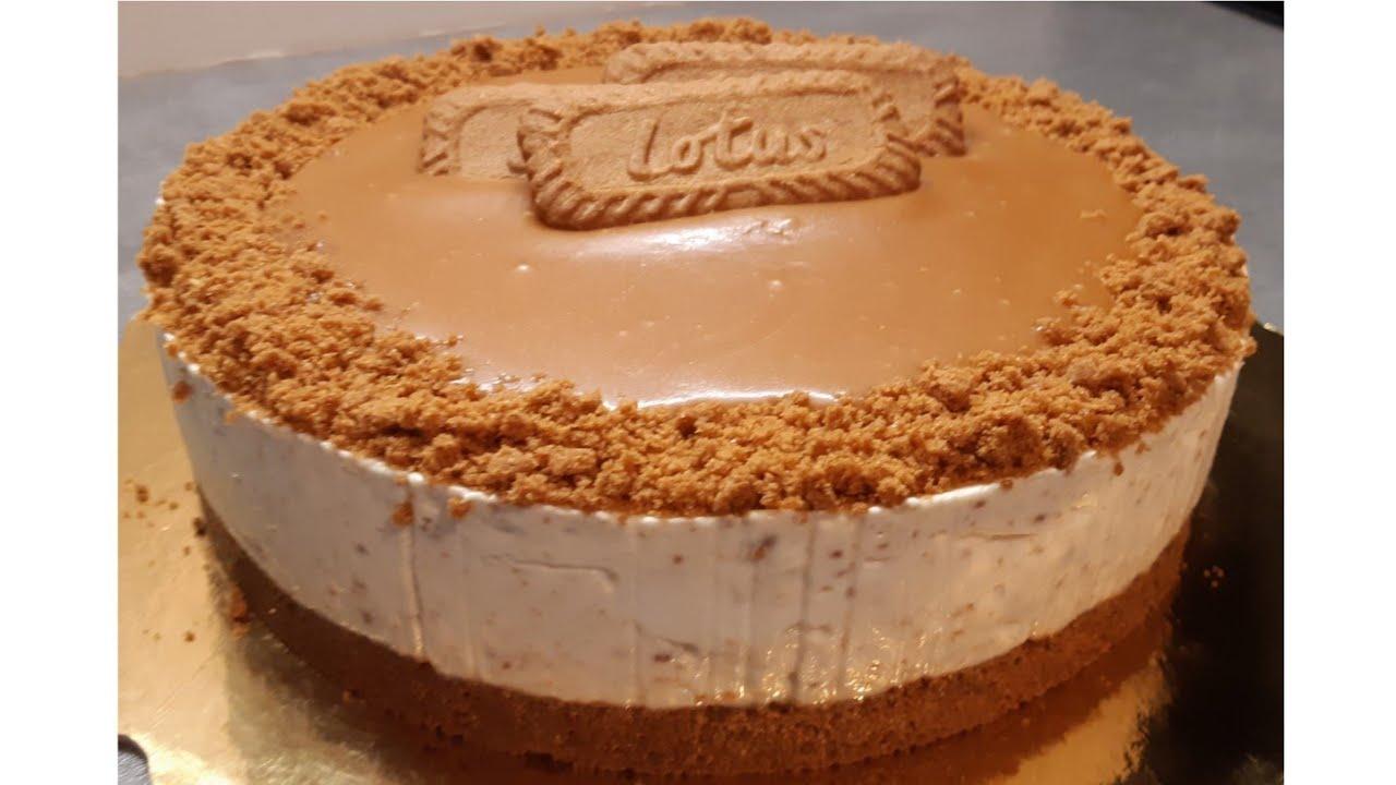 Cheesecake sans cuisson et sans gélatine au spéculoos et ...